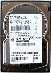 FUJITSU 18.2GB U160 SCSI/SCA2/LVD HDD, MAJ3182MC P/N: CA05668-B31000SU, 3900043-03