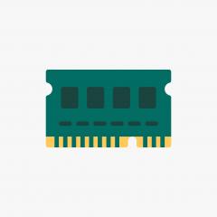 MEMORY 1GB PC133 REG SDRAM, CHIPS SAMSUNG K4S560432H-UC75